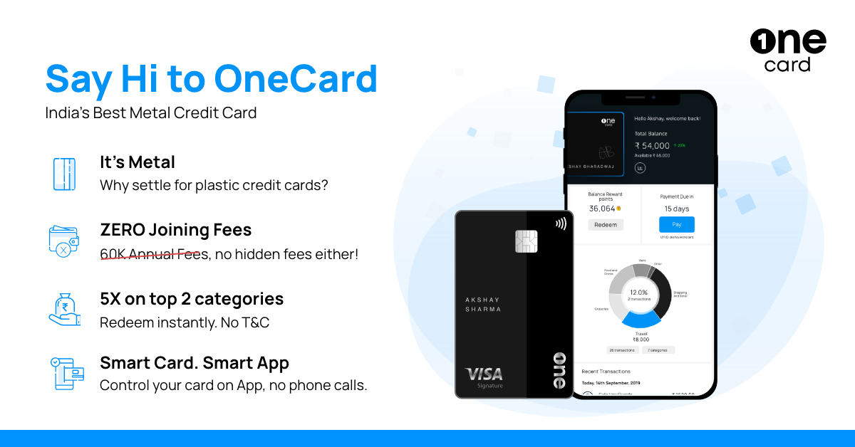 Introducing OneCard - a credit card re-imagined for the mobile generation